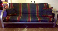 Futon, frame, cover & pillows- $50 obo